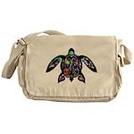 hawaiian honu turtle print Messenger Bag