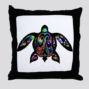 hawaiian honu turtle print Throw Pillow