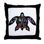hawaiian honu turtle print Throw Pillow