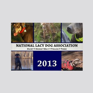 2013 Lacy Dog Wall Calendar Rectangle Magnet