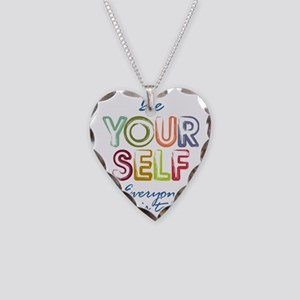 Be yourself Necklace Heart Charm