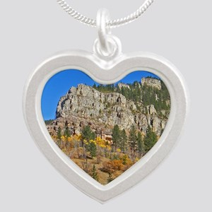 Spearfish Canyon Silver Heart Necklace