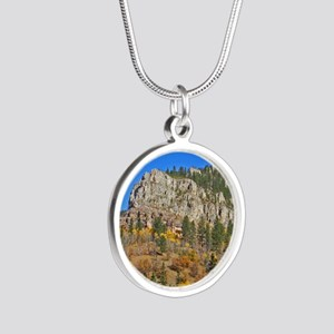 Spearfish Canyon Silver Round Necklace