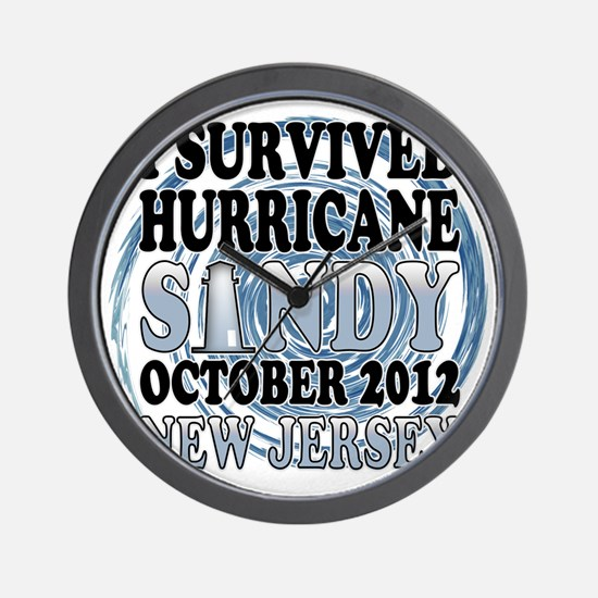 Survived Hurricane Sandy New Jersey Wall Clock