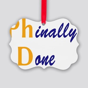 PhinallyDone_orange Picture Ornament