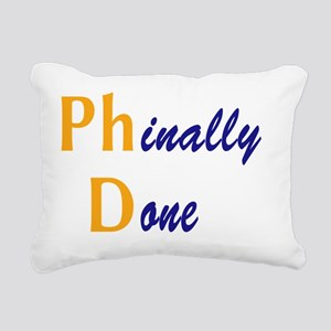 PhinallyDone_orange Rectangular Canvas Pillow