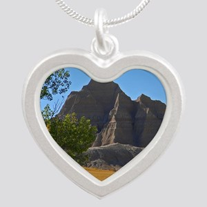 Bad Lands Silver Heart Necklace