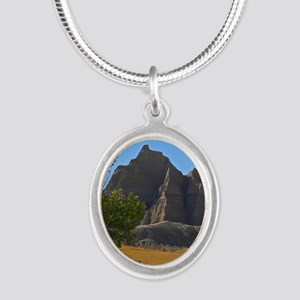Bad Lands Silver Oval Necklace