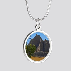 Bad Lands Silver Round Necklace