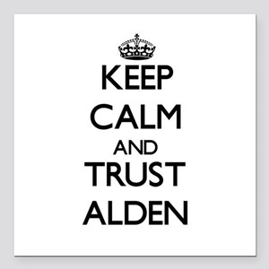 """Keep Calm and TRUST Alden Square Car Magnet 3"""" x 3"""