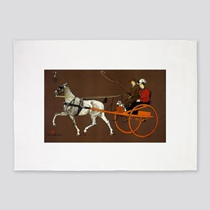 Couple In A Breaking Cart - Edward Penfield - c190