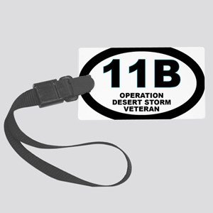 11B Desert Storm Veteran Large Luggage Tag