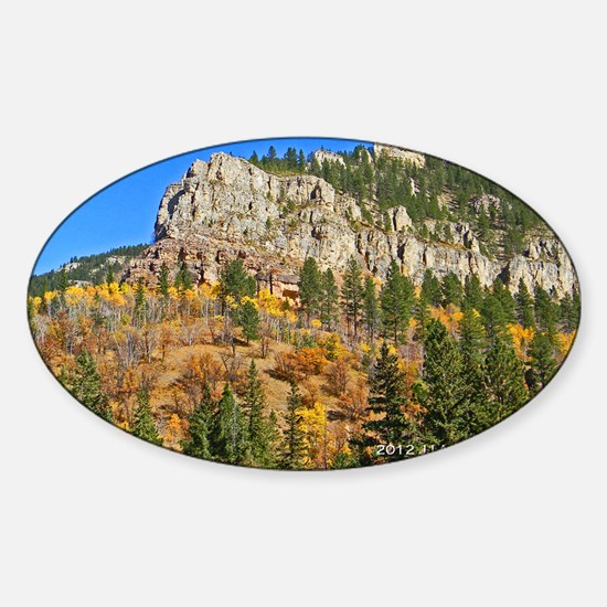 Spearfish Canyon Sticker (Oval)