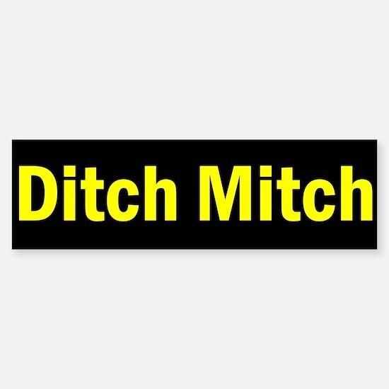 Ditch Mitch Bumper Sticker - Yellow
