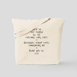 Christmas Song Lyrics Tote Bag