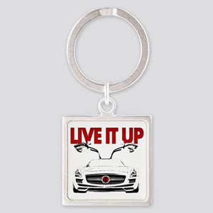 SLS AMG Supercar LIVE IT UP Square Keychain