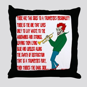 Trumpeters Fury Throw Pillow