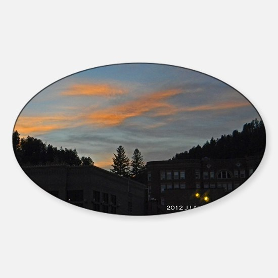 Deadwood Sunset Sticker (Oval)
