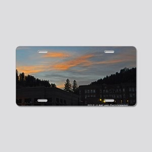 Deadwood Sunset Aluminum License Plate
