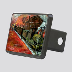 Whistle Stop Train Rectangular Hitch Cover
