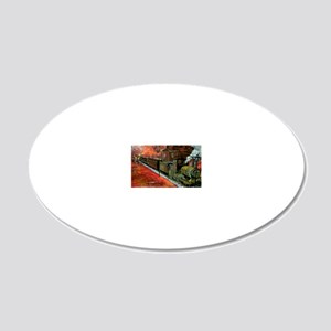 Whistle Stop Train 20x12 Oval Wall Decal