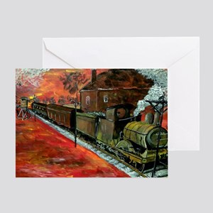 Whistle Stop Train Greeting Card