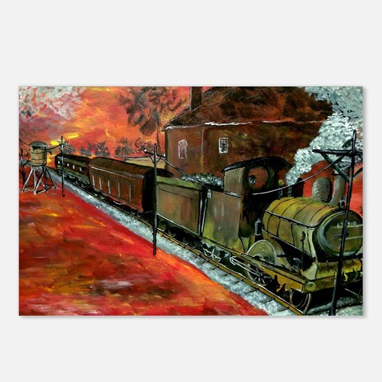 Whistle Stop Train Postcards (Package of 8)