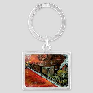 Whistle Stop Train Landscape Keychain