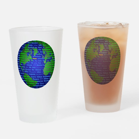 Peace On Earth English Drinking Glass