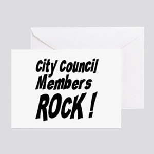 City Council Members Rock ! Greeting Cards (Packag