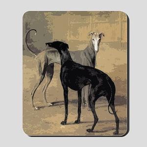 Greyhound Card Mousepad