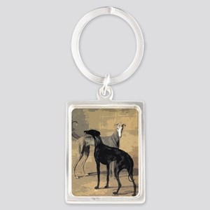 Greyhound Card Portrait Keychain