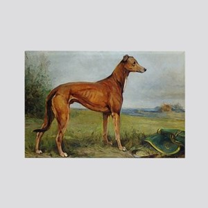 Greyhound In The Field Card Rectangle Magnet