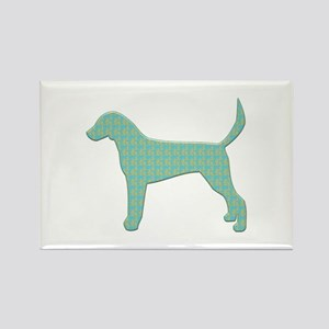 Paisley Foxhound Rectangle Magnet