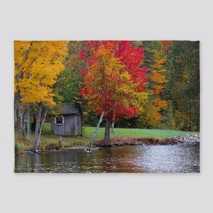 Cold Stream Ponds Country Colors 5'x7'Area Rug