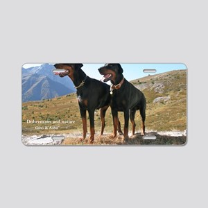 Dobermans and Nature Aluminum License Plate
