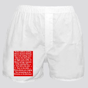 pharmacy Christmas cards RED Boxer Shorts