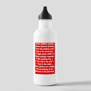 pharmacy Christmas car Stainless Water Bottle 1.0L