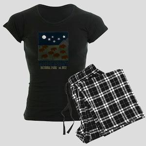Yellowstone Park Night Sky Women's Dark Pajamas