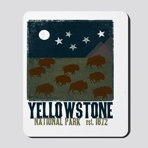 Yellowstone Park Night Sky Mousepad