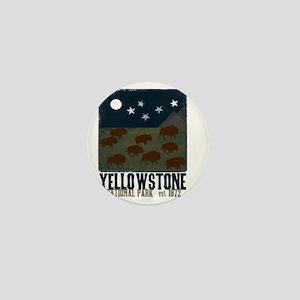 Yellowstone Park Night Sky Mini Button