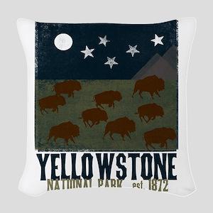 Yellowstone Park Night Sky Woven Throw Pillow