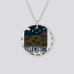 Yellowstone Park Night Sky Necklace Circle Charm