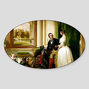 Royal Greyhound Print Sticker (Oval)