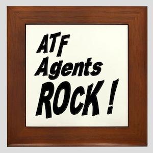 ATF Agents Rock ! Framed Tile