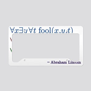 You can fool some of the peop License Plate Holder