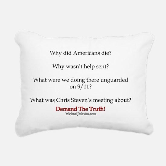 Benghazi Questions Rectangular Canvas Pillow