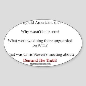 Benghazi Questions Sticker (Oval)