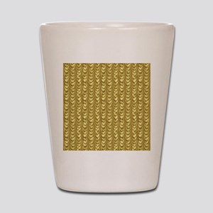 Gold Leaf Draping Curtain Pattern Shot Glass