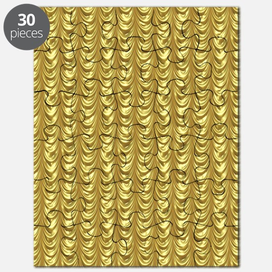 Gold Leaf Draping Curtain Pattern Puzzle